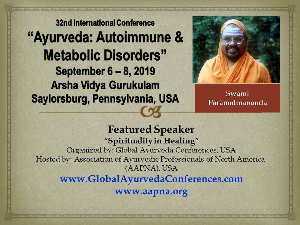 32nd Conference Ayurveda: Autoimmune & Metabolic Disorders